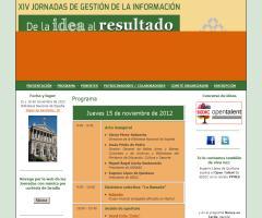Ricardo A. Maturana participa en las XIV Jornadas de Gestión de la Información de SEDIC (Madrid, 15-16 de noviembre de 2012)