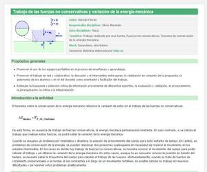 Trabajo de las fuerzas no conservativas y variación de la energía mecánica