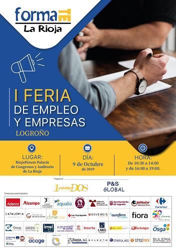 'FORMATE' celebrará el 9 de octubre la I Feria de Empleo de La Rioja en Riojafórum