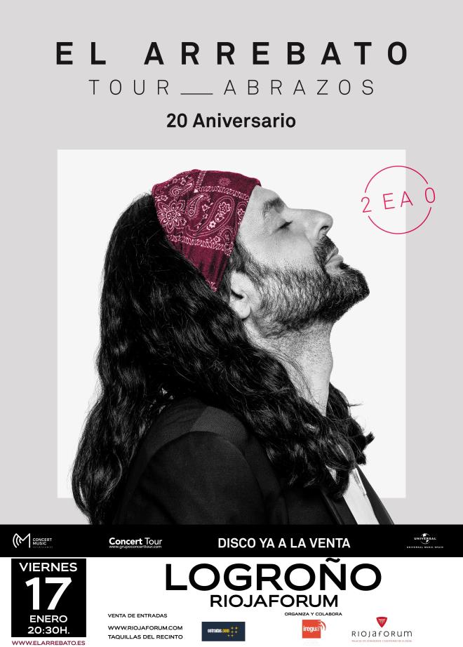 El Arrebato actuará el 17 de enero en Riojafórum dentro de su gira 'Abrazos'