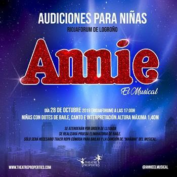 'Annie, El Musical' busca niñas para formar parte de su espectáculo en Riojafórum