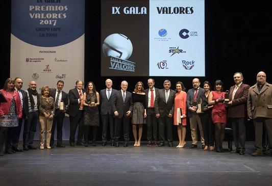 El Grupo COPE La Rioja entrega los XI Premios Valores