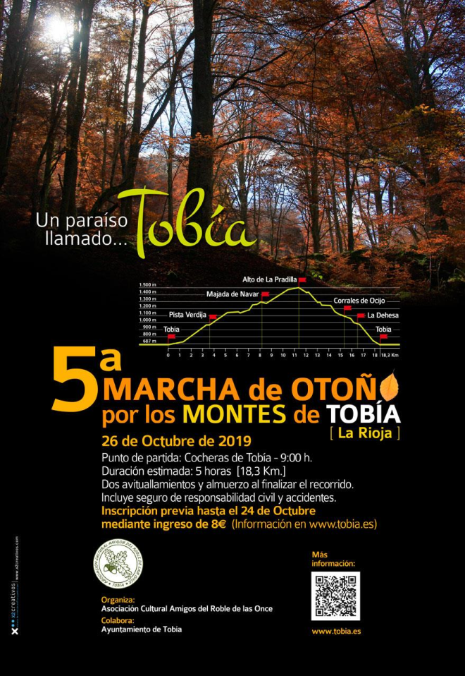 5ª Marcha de Otoño por los Montes de Tobía