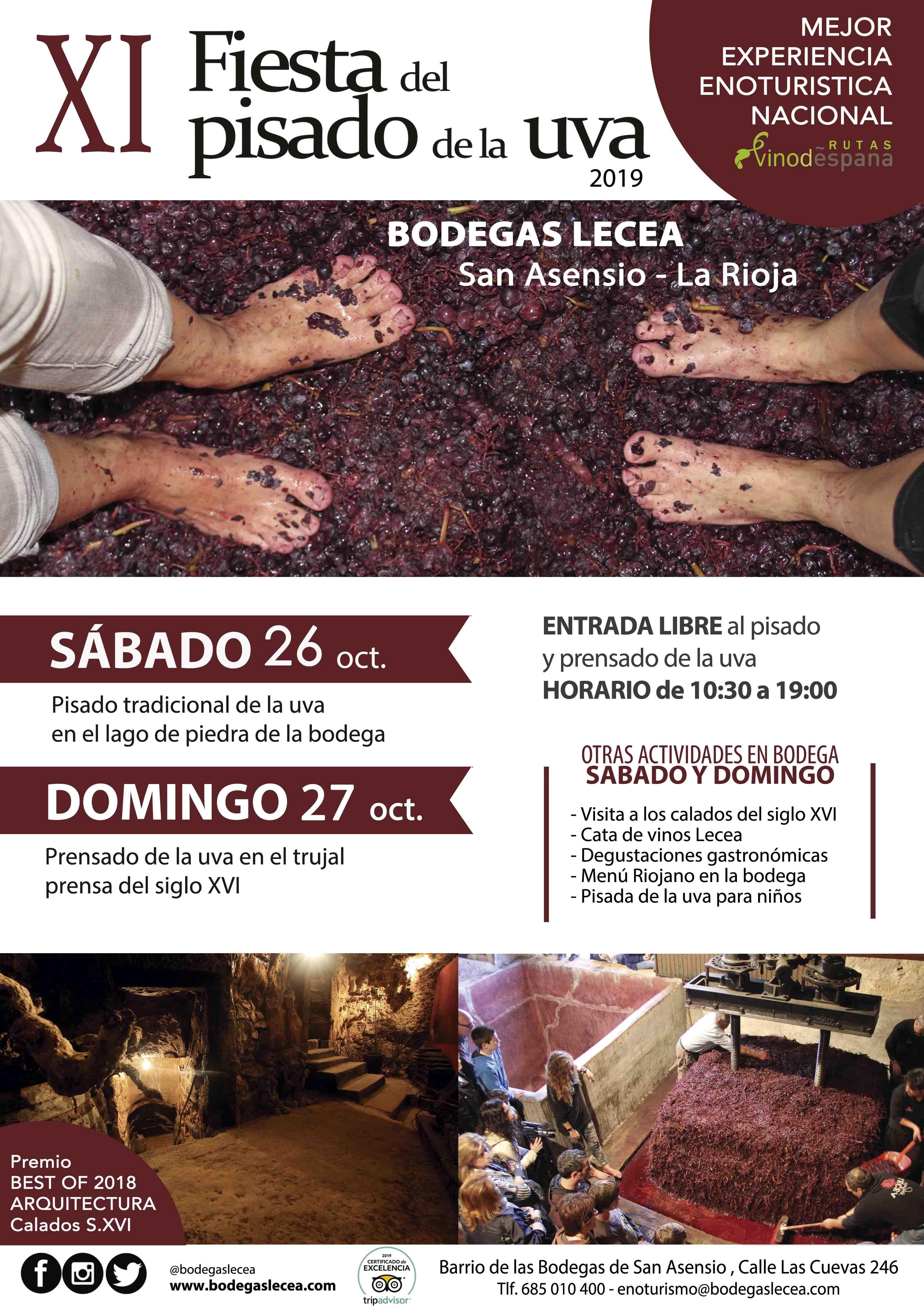Xi Fiesta Del Pisado De La Uva Agenda La Rioja Turismo