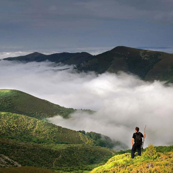 Route durch die Natur und die Landschaften von Los Cameros