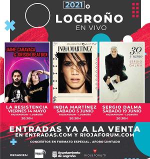 India Martínez, Sergio Dalma y Grison actuarán en Logroño en primavera