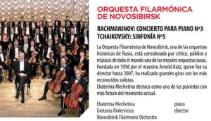 Riojaforum acogerá hoy sábado la actuación de la Orquesta Filarmónica de Novosibirsk