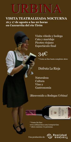 Visita teatralizada nocturna en Bodegas Urbina