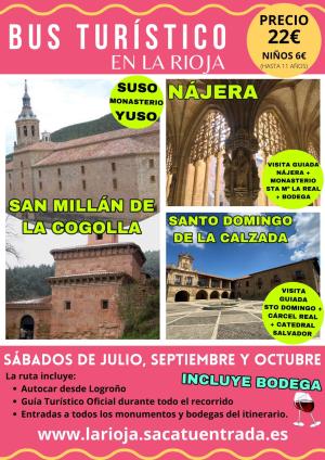 Bus turístico en La Rioja