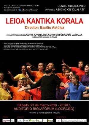 COMUNICADO CORO SINFÓNICO JUVENIL DE LA RIOJA Y LA ASOCIACIÓN IGUAL A TÍ