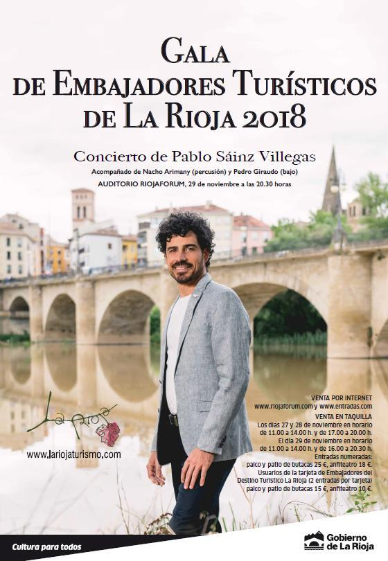 GALA DE EMBAJADORES TURÍSTICOS DE LA RIOJA 2018