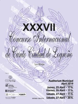 XXXVII Concurso Internacional de Canto Ciudad de Logroño