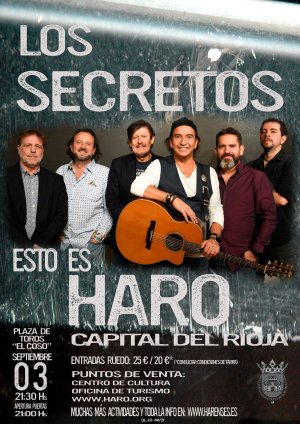 """Concierto """"Los Secretos"""", Haro"""