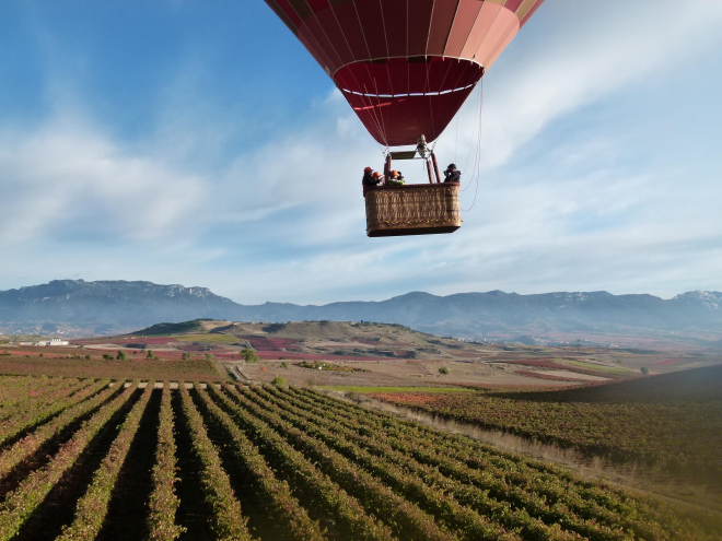 Hot Air Balloon Ride in Spring