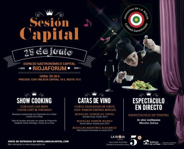 Champiñón y Aceite de La Rioja con claretes y rosados en la próxima Sesión Capital