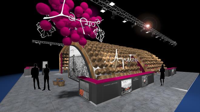 La Rioja estrenará en FITUR un nuevo stand elaborado con el tradicional cesto de castaño, con una imagen atractiva, cálida y elegante y espacios muy funcionales