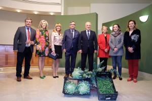 """Ceniceros considera Calahorra una """"referencia imprescindible del sector agroalimentario, la gastronomía y el turismo de La Rioja"""""""