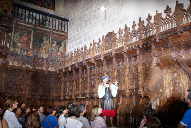 Visitas Nocturnas Teatralizadas dentro del Monasterio de Santa María la Real