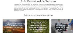 El seminario inaugural del Aula Profesional de Turismo de La Rioja aborda esta tarde las claves para adaptar la actividad turística al escenario pos-COVID
