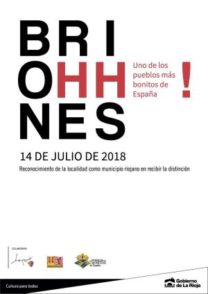 Briones celebra el acto de proclamación que le acredita como Uno de Los Pueblos más Bonitos de España
