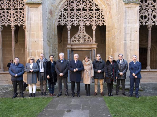 Ceniceros destaca el incremento de las visitas al  monasterio de Santa María La Real registrado en los últimos años