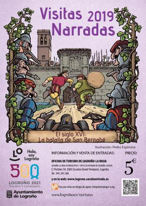 Visitas narradas en Logroño. El siglo XVI: La batalla de San Bernabé