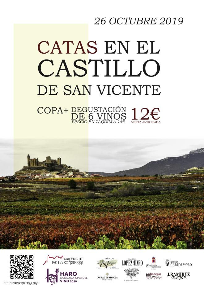 Catas en el Castillo de San Vicente de la Sonsierra, disfruta del paisaje del otoño