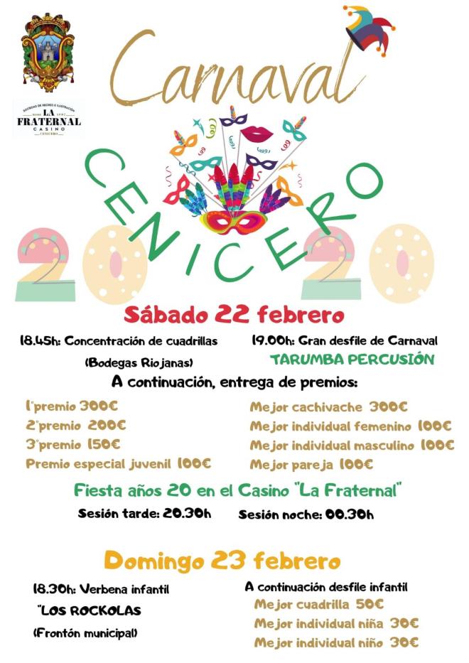 Carnaval en Cenicero 2020