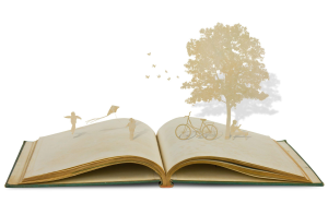 Actividad creativa de animación a la escritura para el público familiar. Con motivo de la celebración del Día Internacional de Libro.