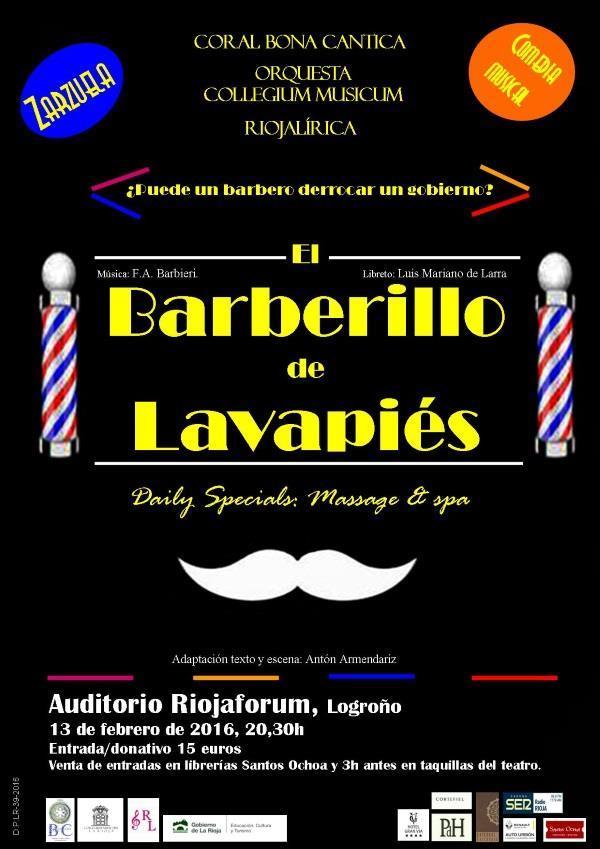 Riojaforum acogerá el 13 de febrero la zarzuela 'El barberillo de Lavapiés'