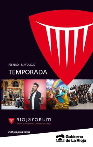 Pablo Milanés encabeza el cartel del primer semestre de Riojafórum