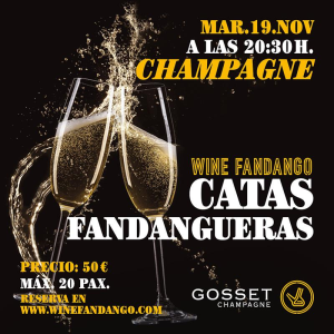 Cata Fandanguera de Champagne francés con Gosset