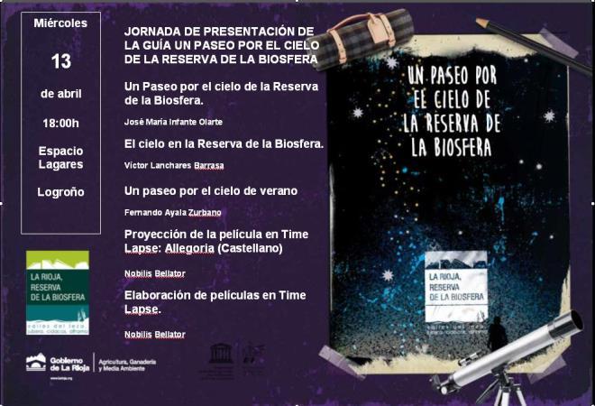 Medio Ambiente celebrará mañana una jornada para presentar la guía Un paseo nocturno por el cielo nocturno de la Reserva de la Biosfera