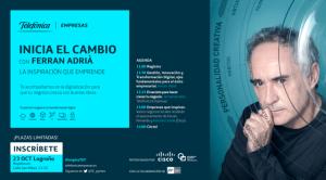 Ferran Adrià imparte una conferencia en La Rioja el próximo miércoles