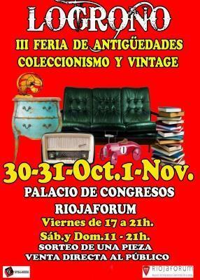 Riojaforum acoge este fin de semana la III Feria de Antigüedades de Logroño