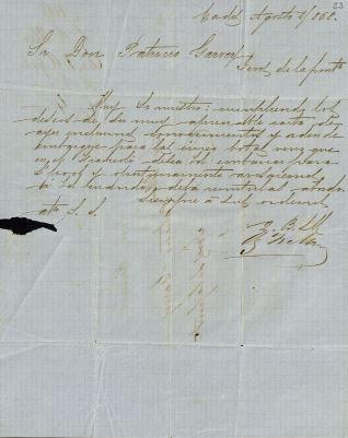 Correspondencia - s.d. /1845. Cádiz