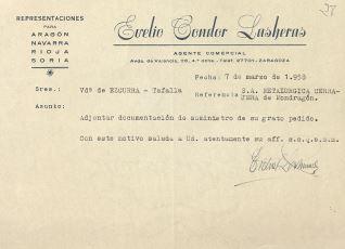 Correspondencia - 1956
