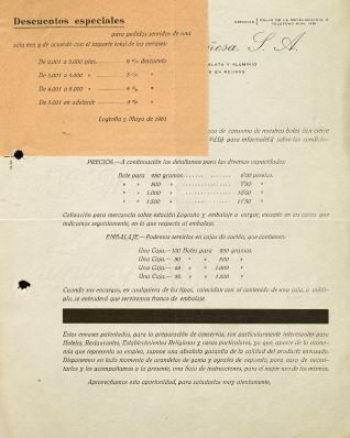 Recibos, letras y facturas - 1959