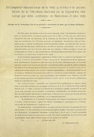 Correspondencia - 1929, enero. Madrid