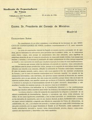 Correspondencia - 1926, julio, 22. Villafranca del Panadés (Barcelona)