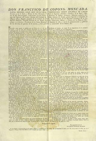 Edictos - 1819, agosto, 31. Barcelona