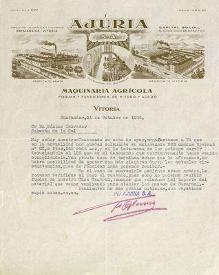 Correspondencia - 1936, octubre, 24. Santander (Cantabria)