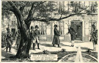 Napoleón llegando a Moët & Chandon
