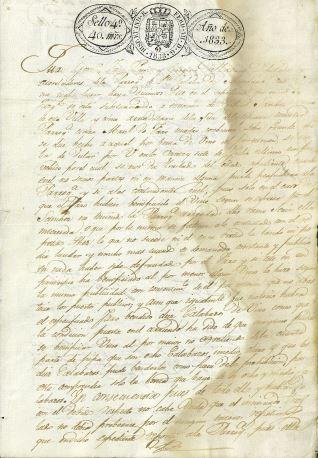 Pleitos - 1833. Puenteareas (Pontevedra)