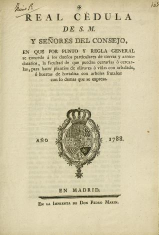 Reales cédulas - 1788, junio, 15 post. Madrid