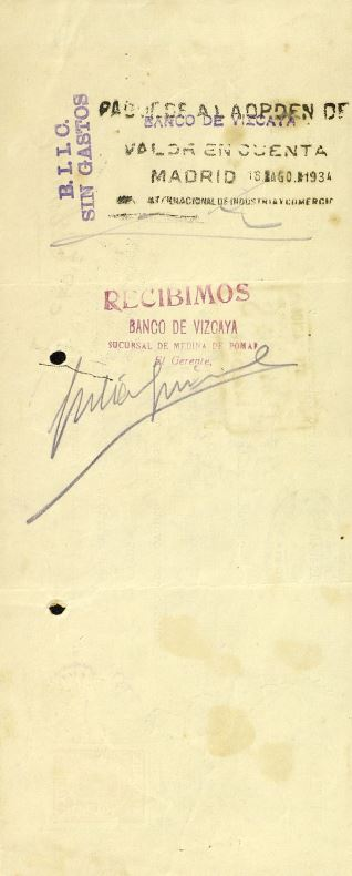 Recibos, letras y facturas - 1934, agosto, 7