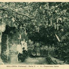 Emparrado típico Mallorca