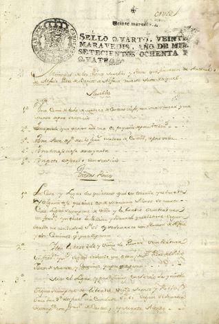 Pleitos - 1784, noviembre, 5. Puenteareas (Pontevedra)