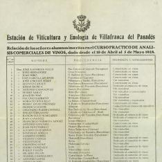 Cursos y congresos - 1928. Villafranca del Panadés (Barcelona)