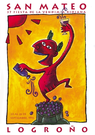 Cartel anunciador de la XXXVII Fiesta de la Vendimia Riojana (Logroño)